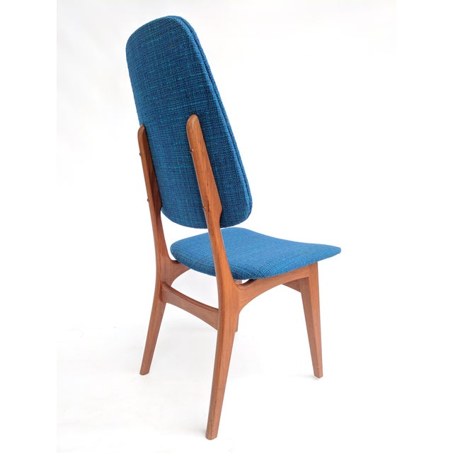 Blue 1960s Scandinavian Modern Sorheim Bruk Teak Dining Chairs - Set of 10 For Sale - Image 8 of 13