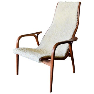 1960s Vintage Yngve Ekstrom Lamino Chair For Sale