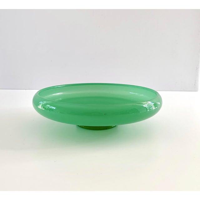 Green Vintage Green Jadeite Glass Bowl For Sale - Image 8 of 8