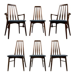Koefoeds Hornslet Rosewood Dining Chairs - Set of 6 For Sale
