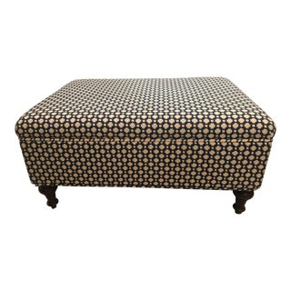 Ballard Design Storage Ottoman in Custom Schumacher Celerie Kemble Fabric