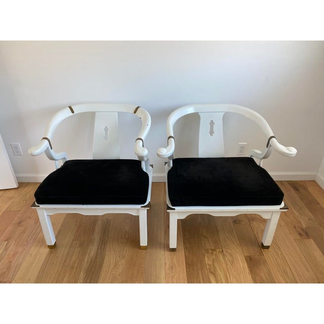 1960s Vintage James Mont Style Ming Chairs - a Pair For Sale - Image 11 of 11