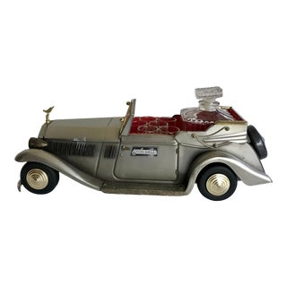 Vintage Musical Rolls Royce Decanter and Glasses Set For Sale
