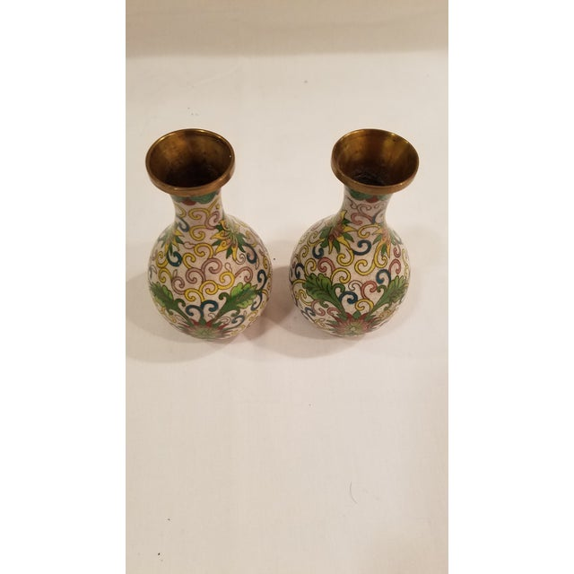 1920s Chinese Cloisonne Vases - a Pair For Sale In Denver - Image 6 of 9