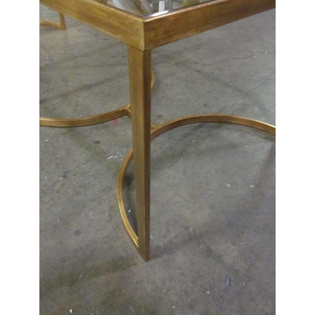 Mid 20th Century Italian Gilt Iron Cocktail Table in the Style of Maison Bagues For Sale - Image 5 of 7