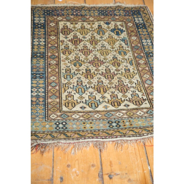 "Vintage Caucasian Square Rug -1'11"" x 2'6"" For Sale - Image 4 of 8"