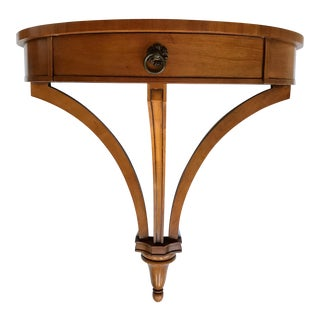 Wall Mounted Demilune Entry Table For Sale