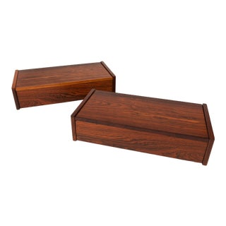 Vintage Danish Mid-Century Rosewood Floating Nightstands - a Pair For Sale
