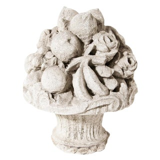 Late 19th Century Cast Stone Cornucopia For Sale