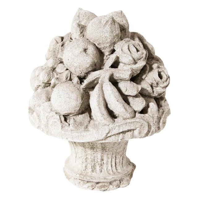 Late 19th Century Cast Stone Cornucopia For Sale