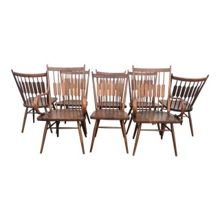 Mid Century Kipp Stewart for Drexel Centennial Series Dining Chairs- Set of 8 For Sale