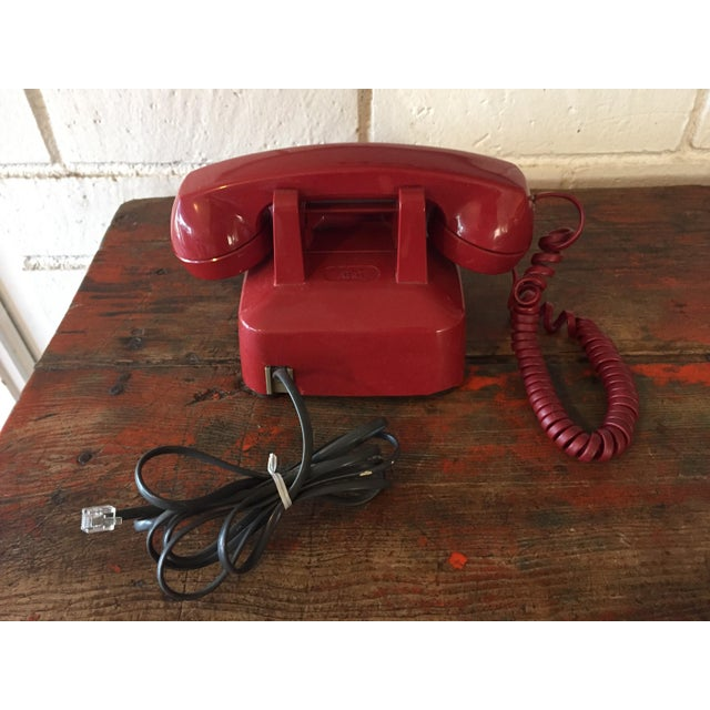 Vintage Red Rotary Telephone - Image 3 of 11