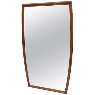 Huge Mid Century Modern Walnut Mirror For Sale