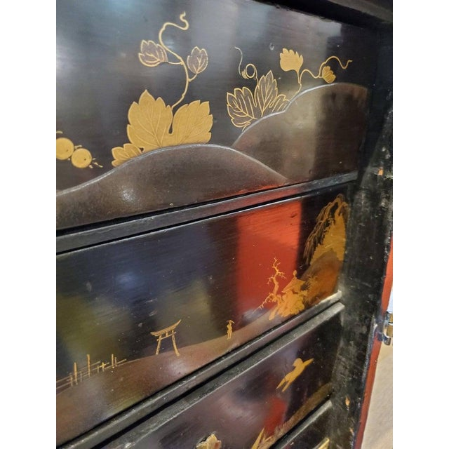 19th Century Japanese Tea Cabinet on Stand - 2 Pieces For Sale - Image 9 of 10