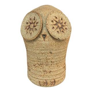 Large Tue Poulsen Danish Modern Stoneware Owl Sculpture For Sale