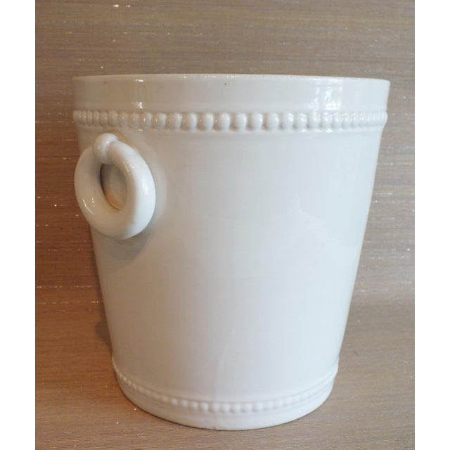 A wonderful piece of vintage white Italian pottery made in the 1930's by Bassanello. Nice sized planter or cache pot in a...