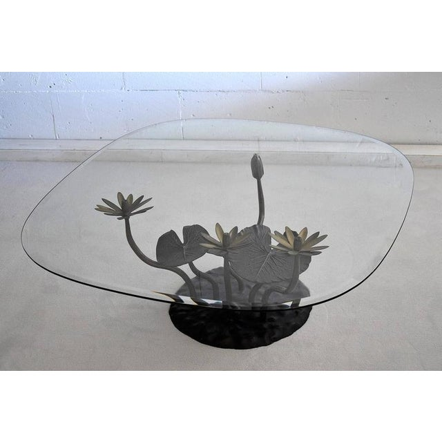 Stylish Mid-Century Modern Lotus Coffee Table For Sale - Image 10 of 11