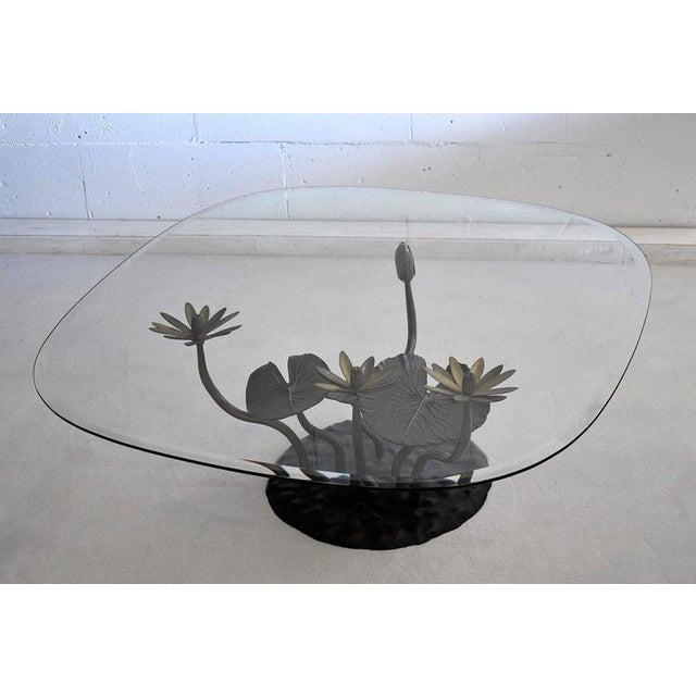 Stylish Mid-Century Modern Lotus Coffee Table - Image 10 of 11
