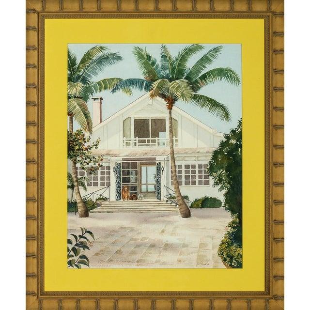 """""""Boca Grande"""" Watercolor by H. K. McVickar - Image 4 of 4"""
