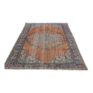 Oushak With Orange Tone Rug - 5′10″ × 9′2″