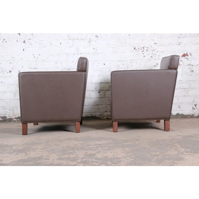 2000 - 2009 Ludwig Mies Van Der Rohe for Knoll Studio Krefeld Leather Club Chairs, Pair For Sale - Image 5 of 9