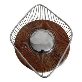 1970s Mid-Century Modern Raimond Silver Wire Fruit Basket For Sale