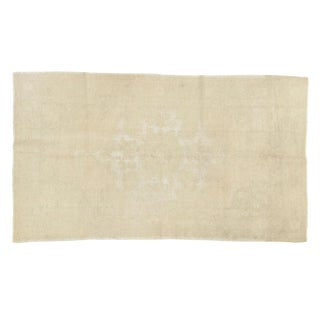 """Distressed Oushak Rug - 4'6"""" X 8' For Sale"""