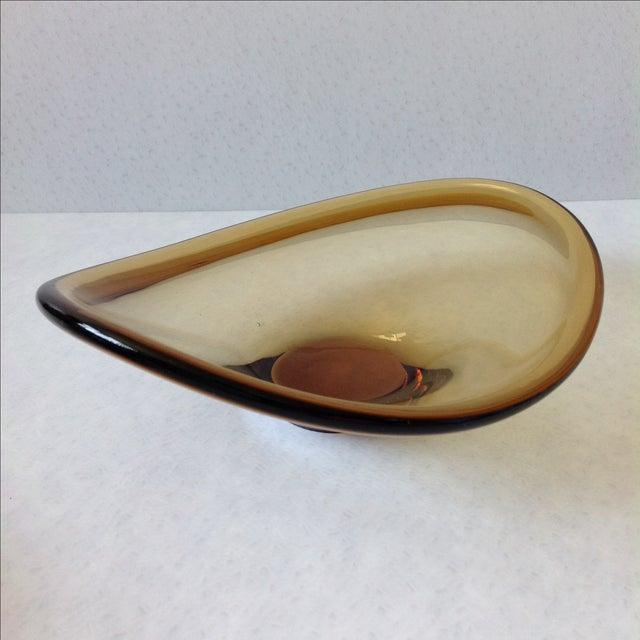 Danish Modern Per Lütken for Holmegaard Amber Glass Bowl For Sale - Image 3 of 8