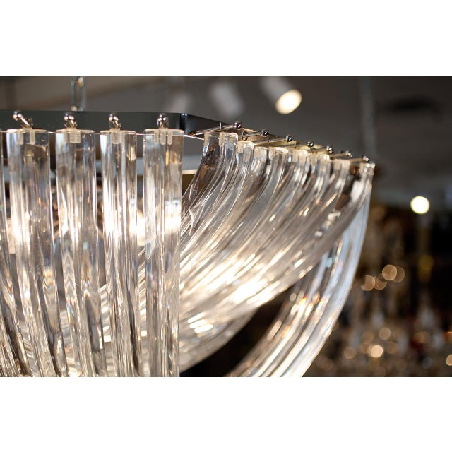 "Mid-Century Modern Customizable Murano Glass ""Curve"" Chandelier For Sale - Image 3 of 10"
