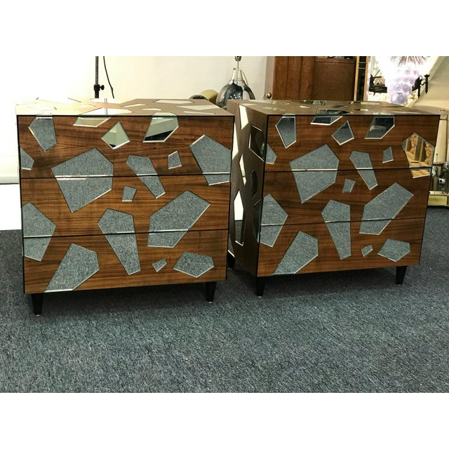 Early 21st Century Mirrored Commodes or Side Tables - a Pair For Sale In Philadelphia - Image 6 of 6