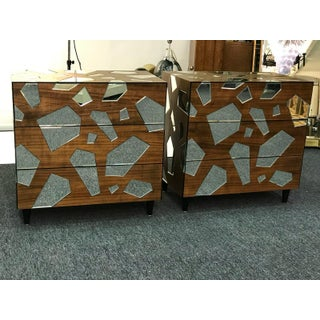 Pair of Mirrored Commodes or Side Tables