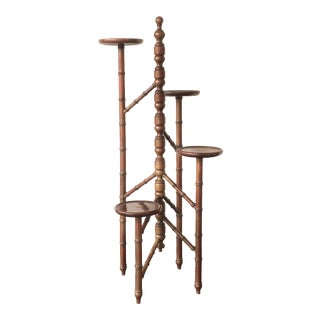 """Albero"" Victorian Mahogany Torchere Candelabra"