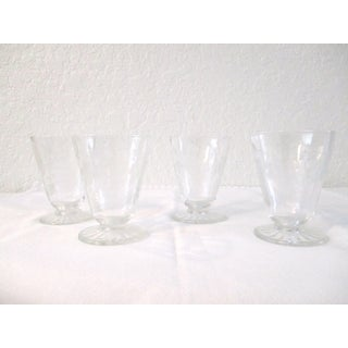 Mid-Century Modern Etched Grape Cordial Glasses - Set of 4 Preview