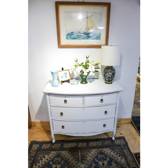Antique Distressed White Painted Oak Dresser - Image 3 of 6