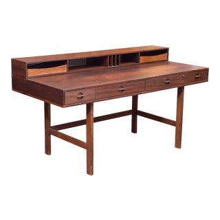 Danish Modern Rosewood Desk by Lovig For Sale