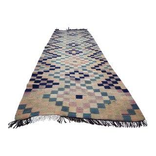 1970s Vintage Turkish Flat Weave Kilim Runner Rug - 3′1″ × 9′6″ For Sale