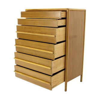 Gibbings for Widdicomb Mid Century Modern Blond Walnut Dresser High Chest For Sale