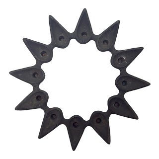 "Danish Modern Cast Iron ""Star Holder"" Candle Holder by Jens Quisgaard for Dansk Designs For Sale"