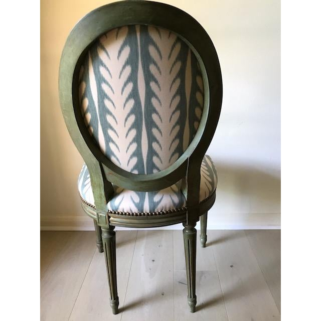 Vintage Louis XVI Side Chairs - a Pair For Sale - Image 4 of 8