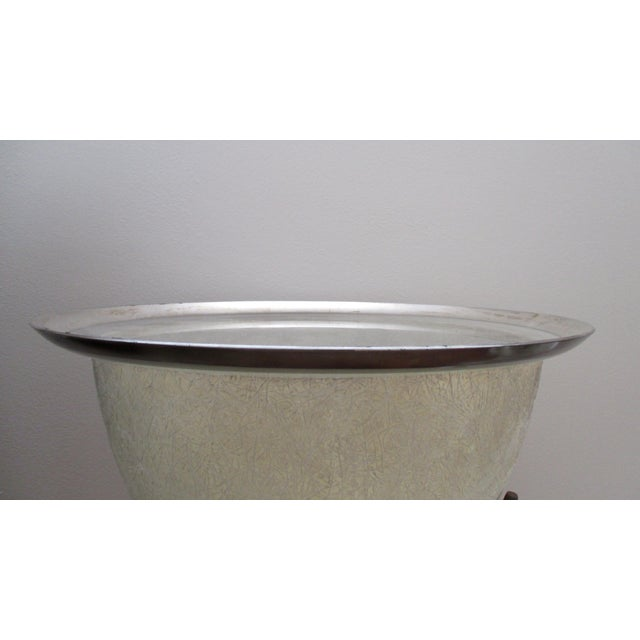 Dorothy Thorpe Mid-Century Glass Silver Rim Tray - Image 4 of 11