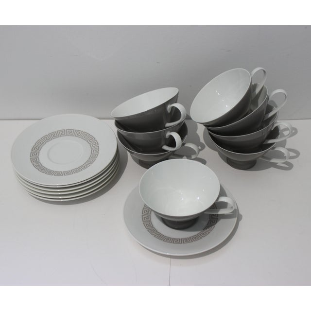 """1960s Mid-Century Modern Rosenthal """"Athenia"""" Dinner Service for 8 Plus Serving Pieces - 63 Items Total For Sale - Image 5 of 13"""