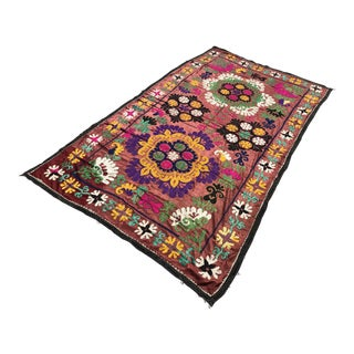 Brown Suzani Tapestry For Sale