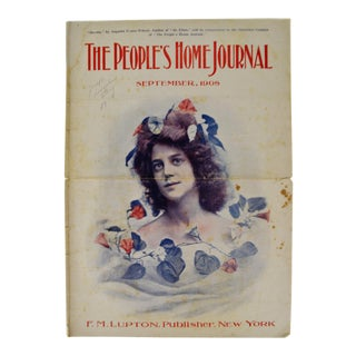 Antique September 1908 The People's Home Journal Magazine For Sale