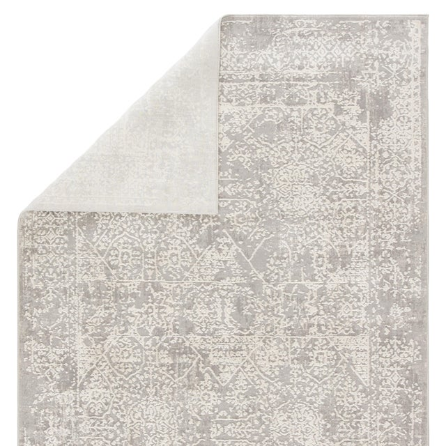 Contemporary Jaipur Living Lianna Abstract Gray White Round Area Rug 6'X6' For Sale - Image 3 of 10