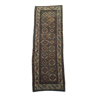 Antique Caucasian Runner Rug - 3′4″ × 9′10″