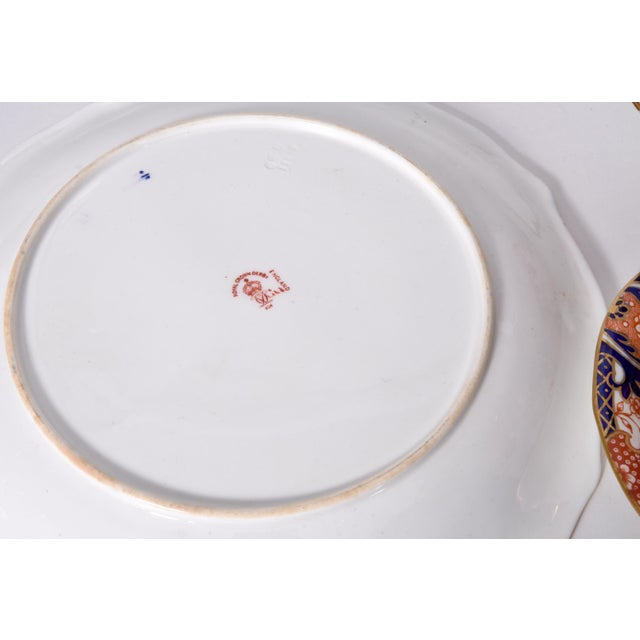 Ceramic Antique English Royal Crown Derby Porcelain Luncheon Set - 27 Pc. Set For Sale - Image 7 of 13