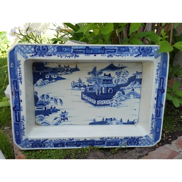 Hand Painted Blue & White Bulb Forcing Tray - Image 4 of 6