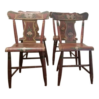 19th Century Rustic Farmhouse Chairs - Set of 4