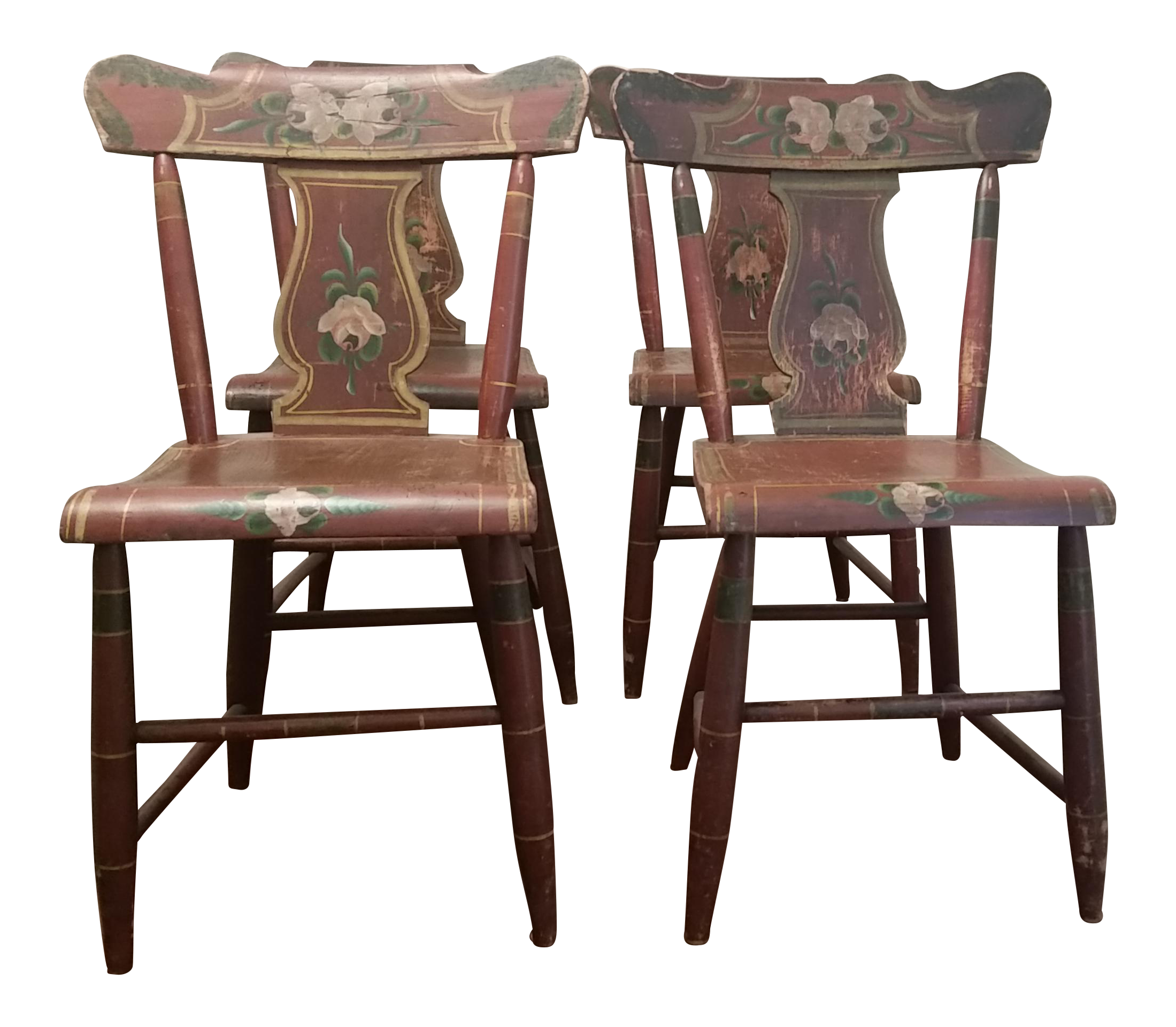19th Century Rustic Farmhouse Chairs   Set Of 4