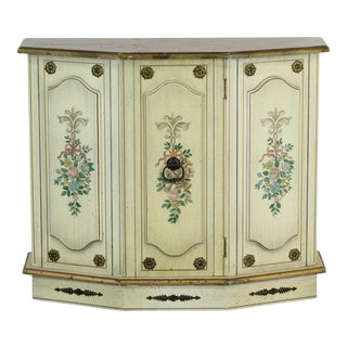 Hall Cabinet, Hall Console, Floral Motif Hall Cabinet For Sale